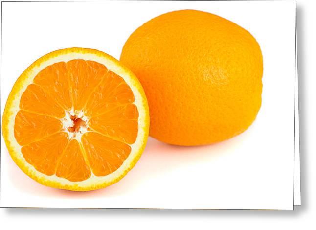 Orange Fruit Greeting Card