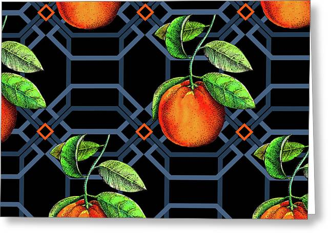 Orange Geometric Greeting Card