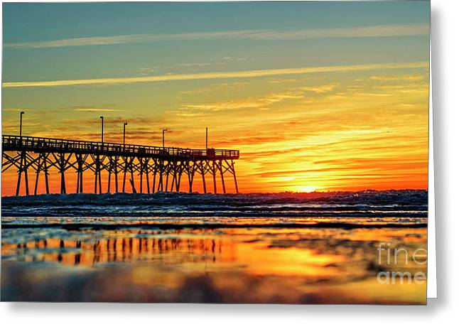 Greeting Card featuring the photograph Orange Glow by DJA Images