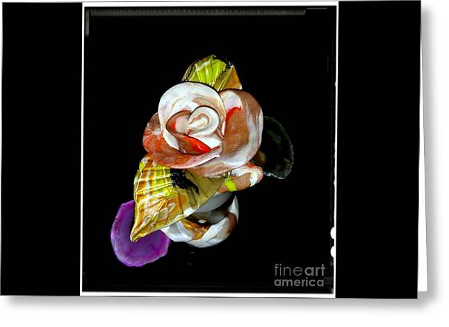 Orange Gold Rose For Valentine's Greeting Card by Kirk Wieland