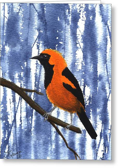 Orange-headed Oriole Greeting Card