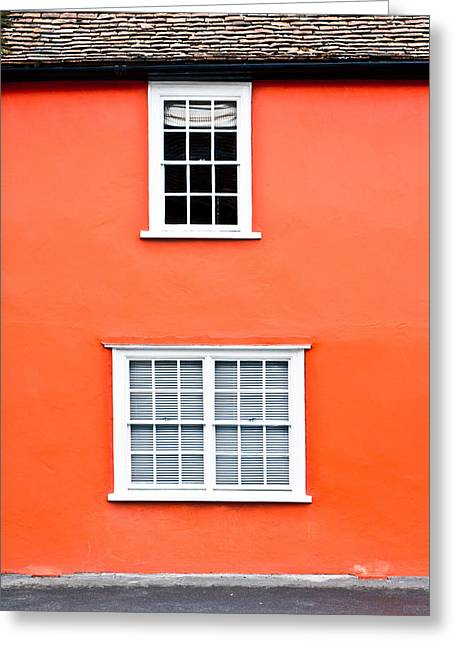 Orange House Greeting Card by Tom Gowanlock