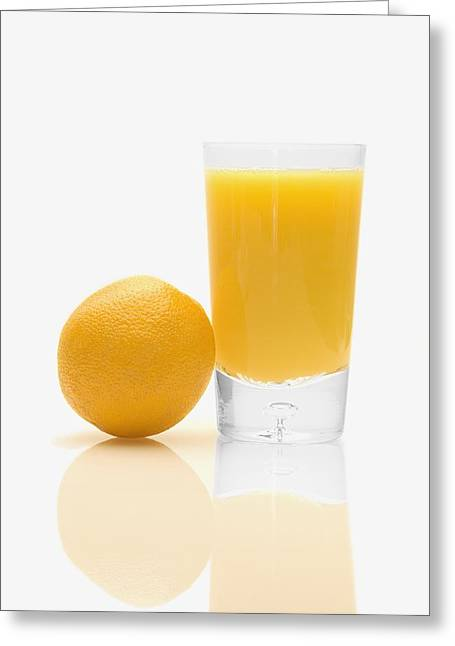 Orange Juice Greeting Card by Darren Greenwood