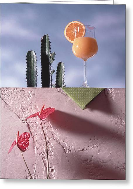 Orange Juice Greeting Card by Steven Huszar
