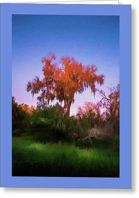 Orange Oak Greeting Card
