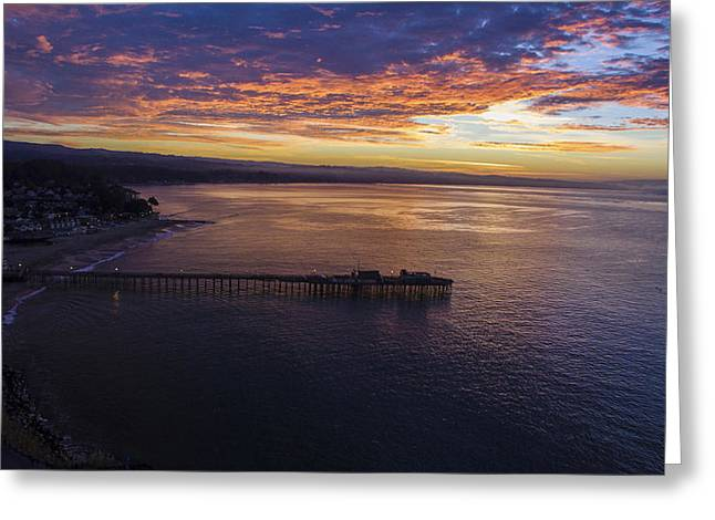 Orange Peel Sunrise Greeting Card by David Levy