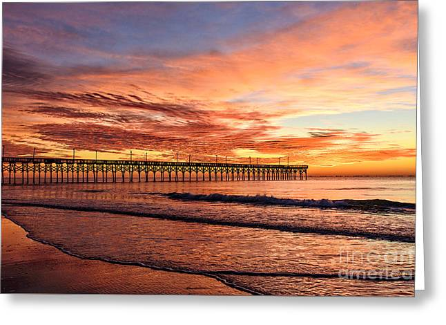 Orange Pier Greeting Card