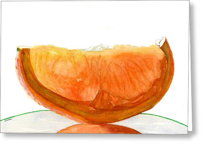 Orange Reflection Greeting Card
