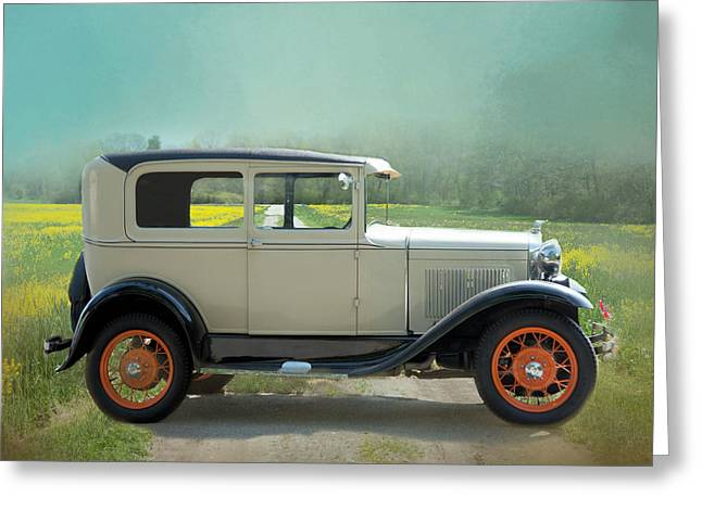Greeting Card featuring the photograph Orange Rims by Robin-Lee Vieira