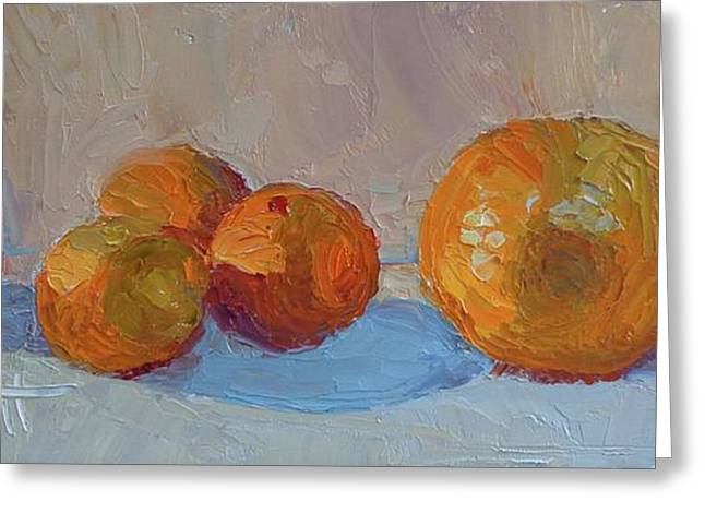 Orange Roll Greeting Card by Donna Shortt