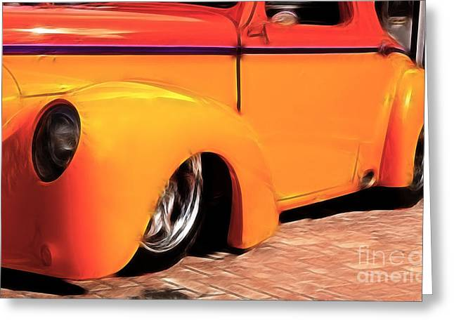 Orange Rush - 1941 Willy's Coupe Greeting Card