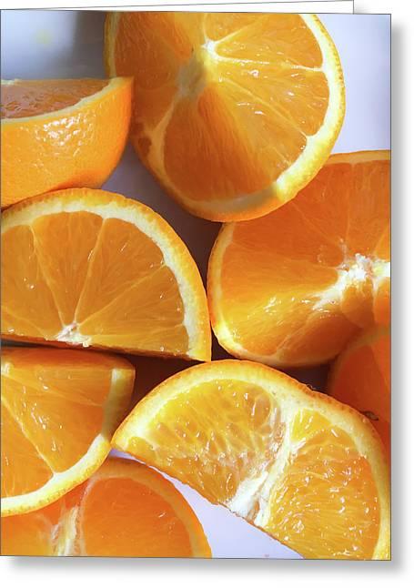 Orange Segments Greeting Card by Tom Gowanlock