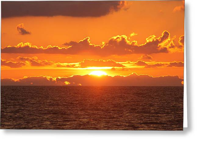 Orange Skies At Dawn Greeting Card