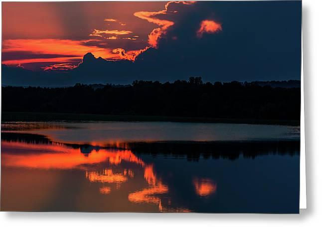 Orange Sky Greeting Card