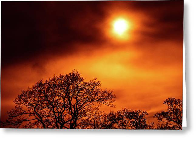 Greeting Card featuring the photograph Orange Sky by RKAB Works