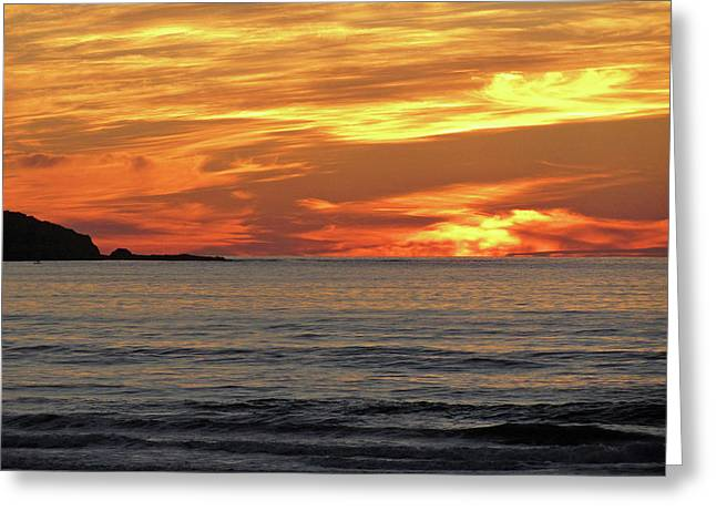 Orange Sky Greeting Card by Sierra Vance
