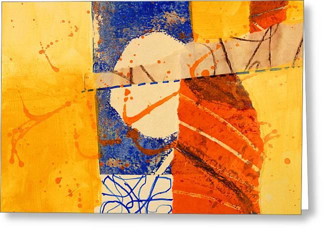 Orange Splatter 4 Greeting Card by Nancy Merkle