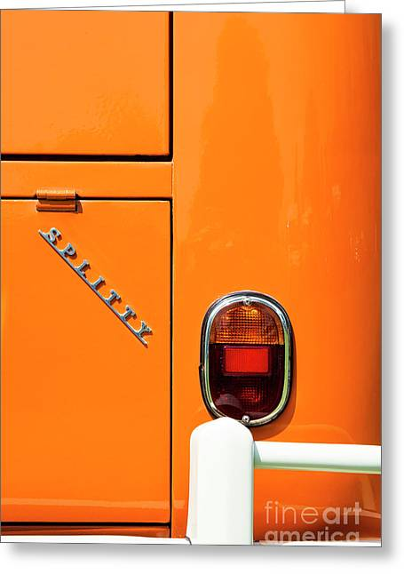 Orange Splitty Greeting Card by Tim Gainey