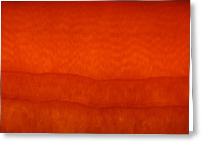 Orange Stone 3 Greeting Card