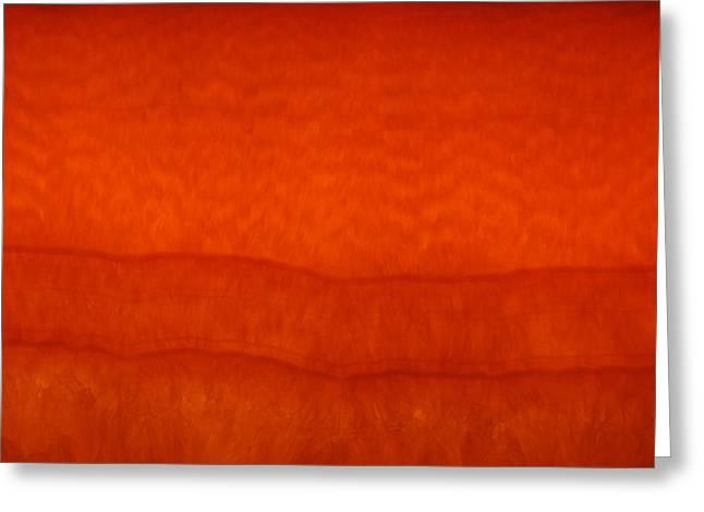 Orange Stone 3 Greeting Card