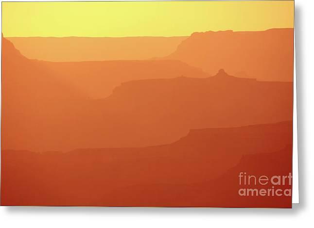 Orange Sunset At Grand Canyon Greeting Card by RicardMN Photography