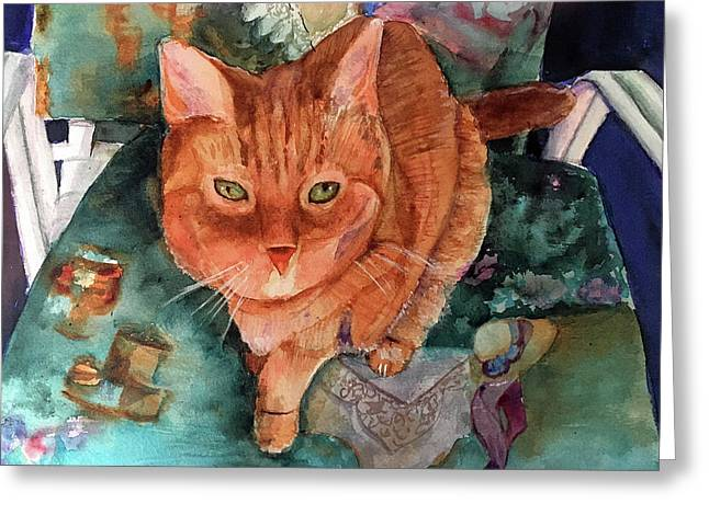 Orange Tabby Greeting Card
