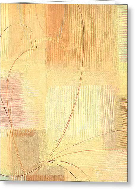 Orange Textures  Greeting Card by Marja Koskinen-Talavera
