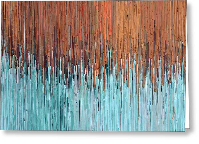 Orange Turquoise  Greeting Card by Kate Tesch