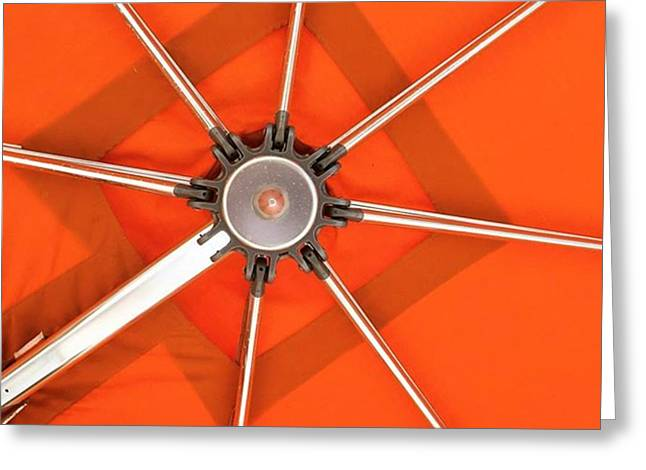 Orange Umbrella #photography Greeting Card