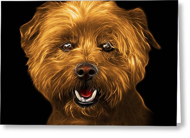 Orange West Highland Terrier Mix - 8674 - Bb Greeting Card