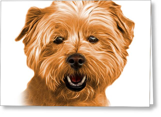 Orange West Highland Terrier Mix - 8674 - Wb Greeting Card
