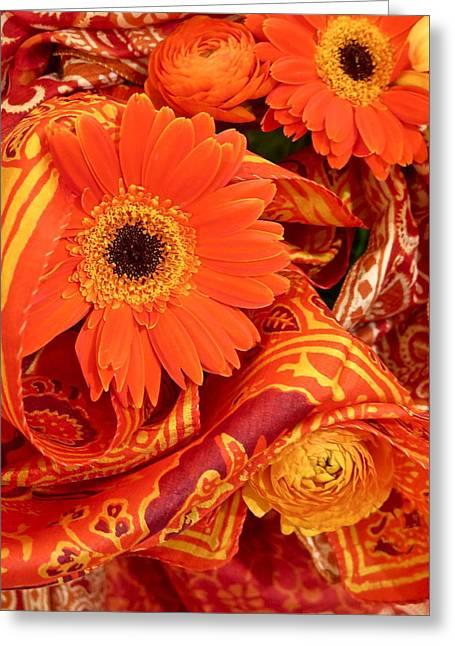 Orange Wrappings Greeting Card