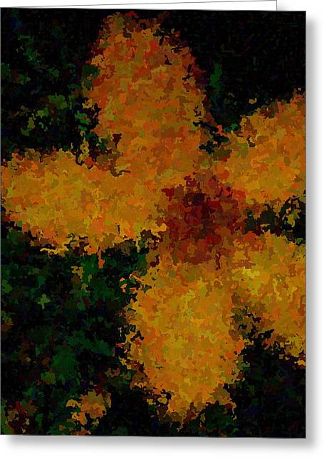 Orange-yellow Flower Greeting Card by April Patterson