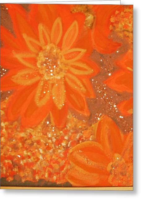Orange You Glad You Like Orange Greeting Card by Anne-Elizabeth Whiteway