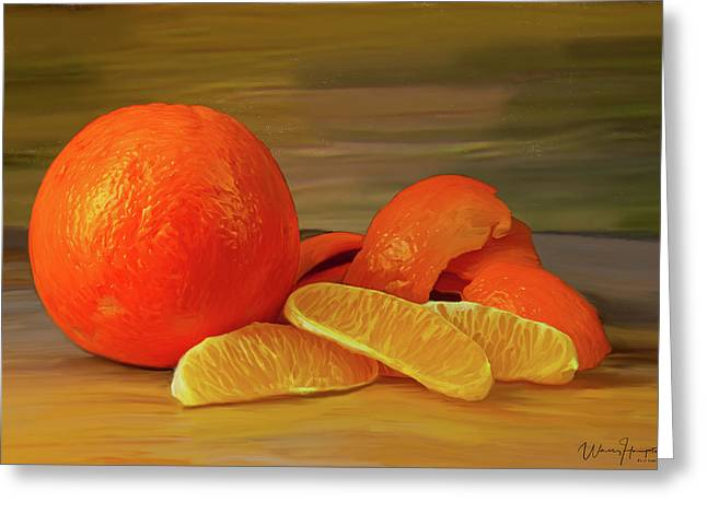 Oranges 01 Greeting Card by Wally Hampton