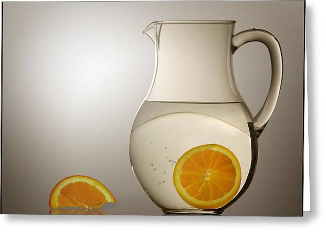 Greeting Card featuring the photograph Oranges And Water Pitcher by Joe Bonita