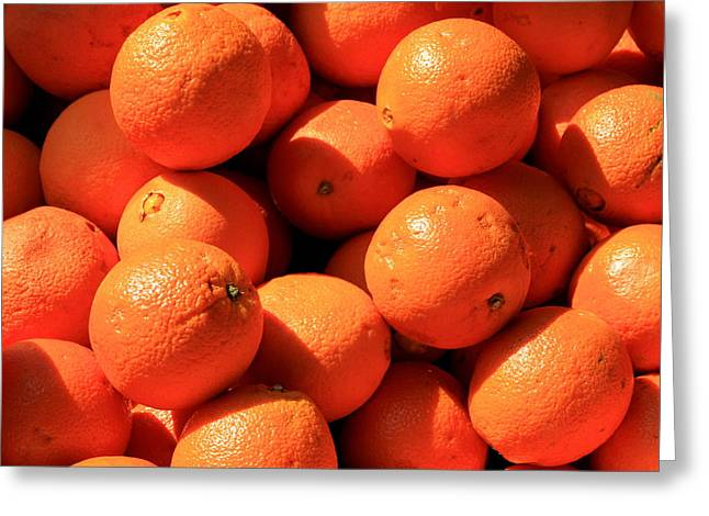 Greeting Card featuring the photograph Oranges by David Dunham