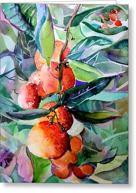 Oranges Greeting Card by Mindy Newman