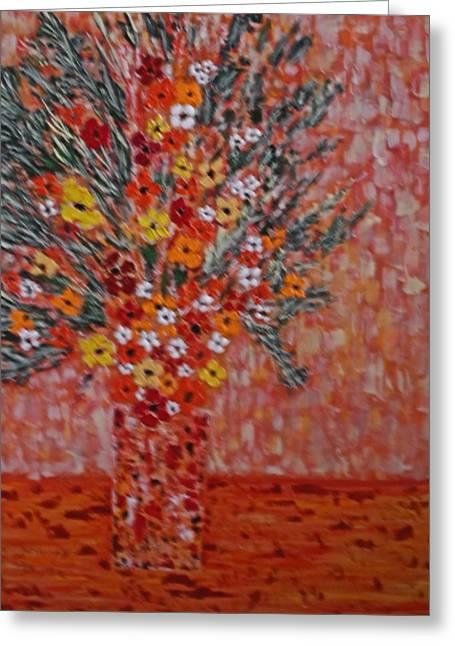 Orangey Greeting Card by Hema Rana