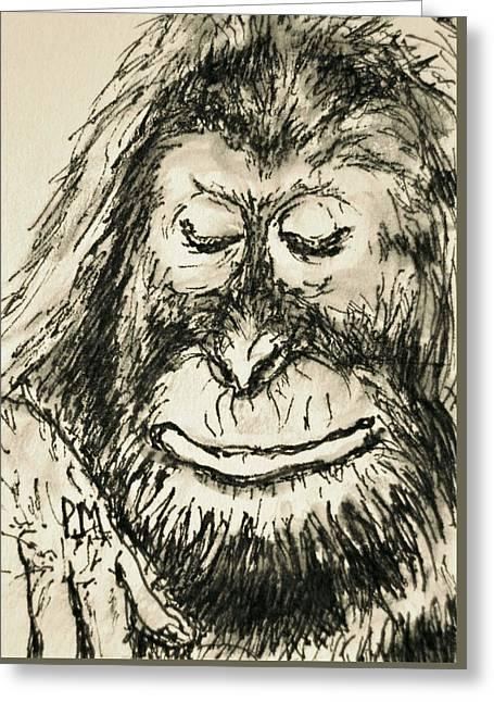 Orangutan Greeting Card by Pete Maier