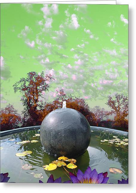 Orb Fountain Greeting Card