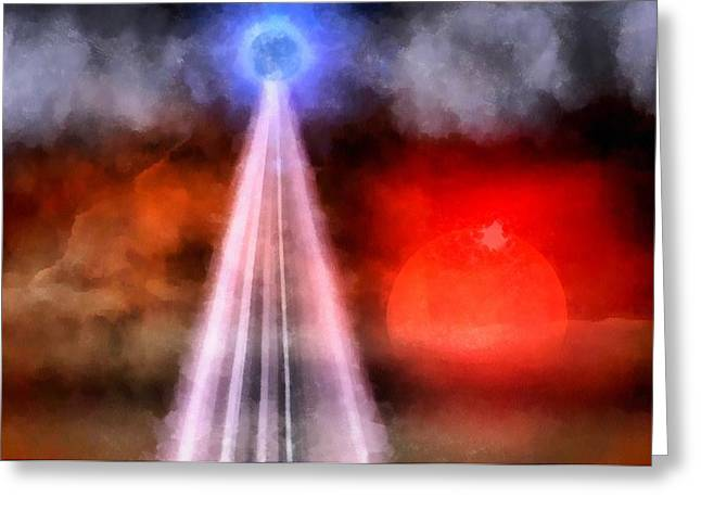 Orb Of Light Greeting Card by Raphael Terra