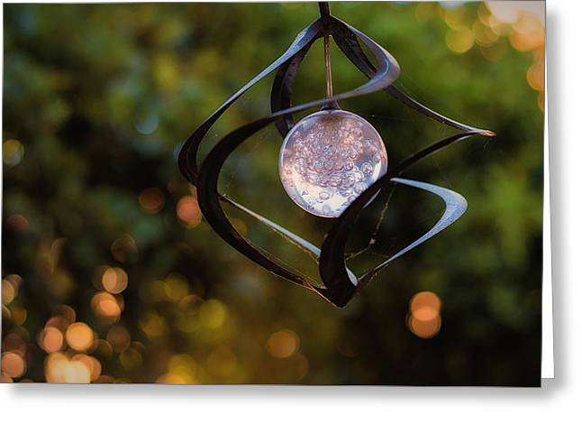 Greeting Card featuring the photograph Orb by Tim Nichols