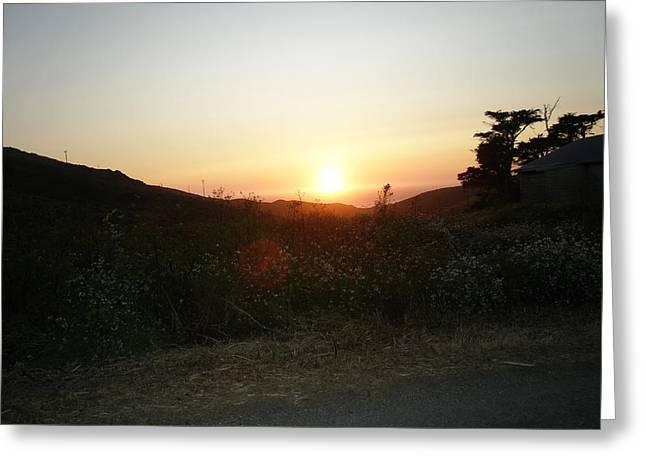 Orbs At Sunset Greeting Card