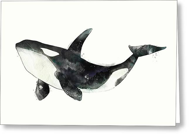 Orca From Arctic And Antarctic Chart Greeting Card