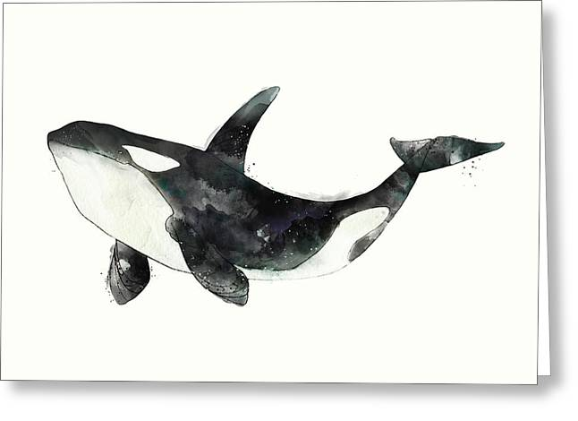 Orca From Arctic And Antarctic Chart Greeting Card by Amy Hamilton