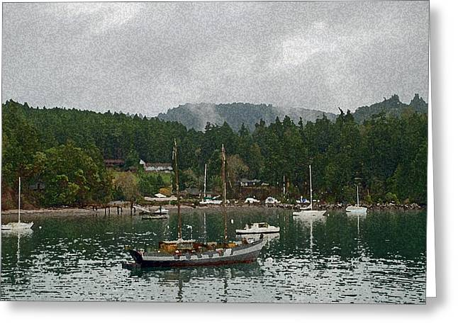 Orcas Island Digital Enhancement Greeting Card