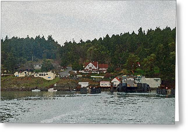Orcas Island Dock Digital Greeting Card