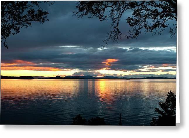 Orcas Island Sunset Greeting Card