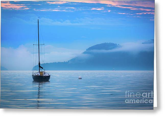 Orcas Sailboat Greeting Card